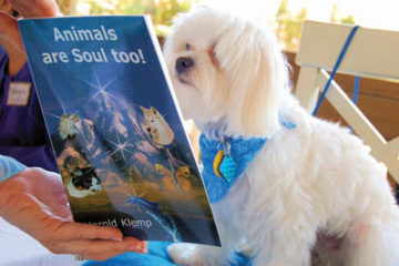 Dog reading Animals are Soul too!